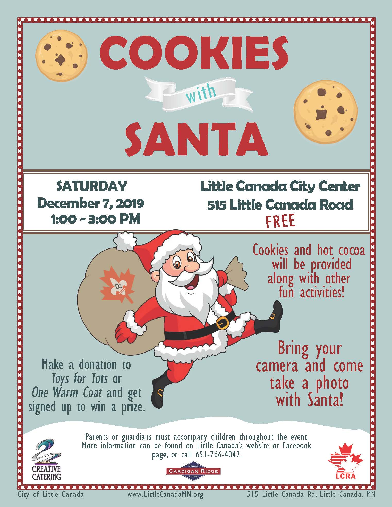 2018 Cookies with Santa Flyer
